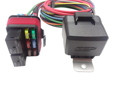 gep universal pre wired waterproof mini fuse relay panel box holder 80 amp 12v 80 Amp Battery Fuse
