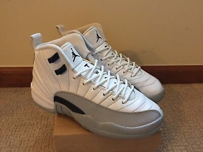 premium selection 8f53a 38a9b Nike Air Jordan 12 Retro GG GS Barons 510815-108 White Wolf Grey Size 4.5