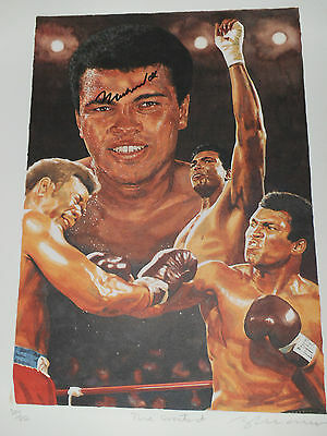 Muhammad Ali   Sign  Lithograph  Print  Mint  100% Original