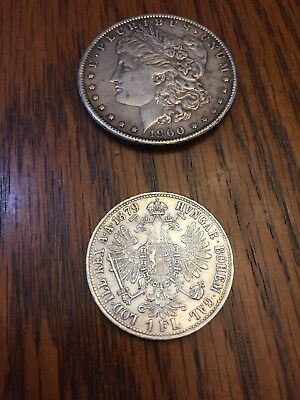 1879 AUSTRIA FRANZ JOSEPH I Silver Mint State Silver Florin Awesome Coin