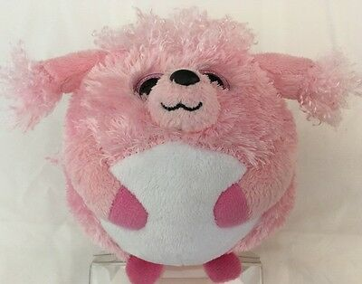 2660ea31924 TY BEANIE BALLZ Lovey The Pink Poodle Soft Plush Fluff Fur Play Dog Pup  Ball Toy