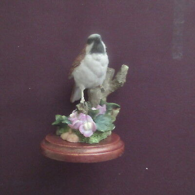 Country Artists Bird Figure The Sparrow with Ivy Leafed Toad Flax, 01315.