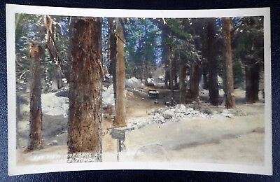 Bay View National Campgrounds Lake Tahoe Tinted Rppc California