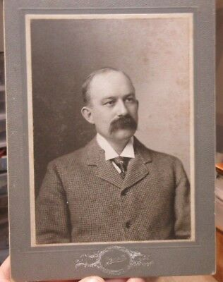 1890s Antique Old Cabinet Photo Picture Sioux City Iowa WIGTON Family Named Man