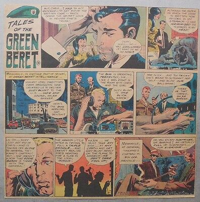 Green Beret Sunday by Joe Kubert from 7/16/1967 Trimmed Tabloid Size Page !