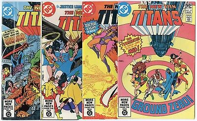 New Teen Titans #3 - 10  Complete Run  avg. NM- 9.2 white pages  DC  1981