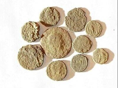 10 ANCIENT ROMAN COINS AE3 - Uncleaned and As Found! - Unique Lot X4412