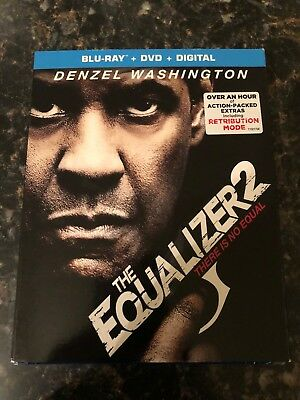 The Equalizer 2 2018 (Blu-Ray, DVD, Digital) NEW SEALED  W/ Slipcover