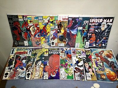 Spider-Man, Amazing Spider-Man 16 Issue Comic Book Lot. (Lot A5)