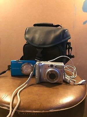 Nikon COOLPIX S3000 and Canon Powershot A540 w/ Case