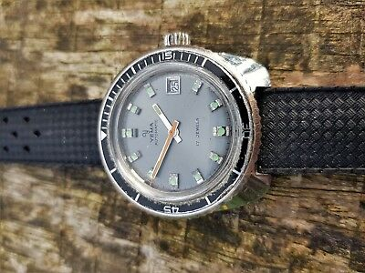 YEMA VINTAGE AUTOMATIC 1970s MEN'S DIVERS WATCH, FRENCH MADE, FE 3611 AUTO MOVT