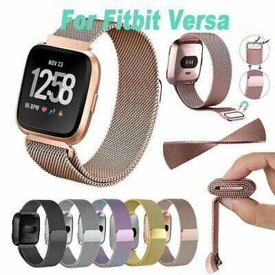 For Fitbit Charge 3 Band Strap Watch Stainless Steel Milanese Loop Wristband AU