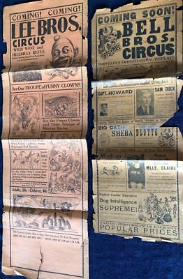 HUGE ANTIQUE 1890s LEE & BELL BROS CIRCUS BROADSIDES--AMAZING GRAPHICS,DBL SIDED