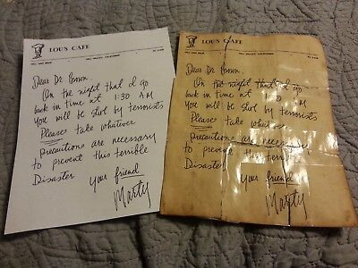 Back to the future Doc's letter from marty prop replica 1955 and 1985 set