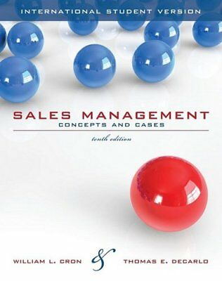 Sales Management: Concepts and Cases by DeCarlo, Thomas E. Paperback Book The