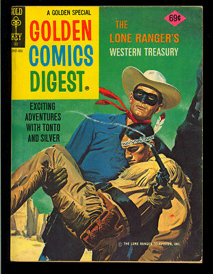 Golden Comics Digest #48 (Lone Ranger) Nice Last Issue Gold Key Comic 1976 FN+