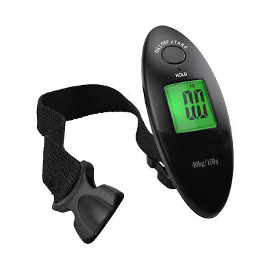 40Kg Digital LCD Luggage Scale Fishing Hanging Weight Electronic Pocket Scale US