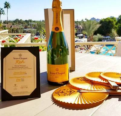 Veuve Clicquot Fan Yellow Label Champagne Party Accessory Foldable New