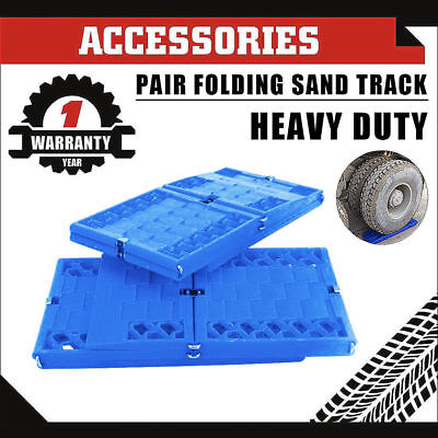 Pair 4WD Recovery Tracks 10T Off Road 4x4 Snow Mud Sand Snow Grass Track