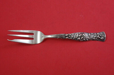 Flora by Shiebler Sterling Silver Pastry Pie Fork 3-tine Heavy 7""