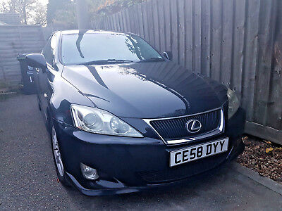 2008 Lexus IS 220D BLACK VGC (private sale) FULL YEAR MOT new battery