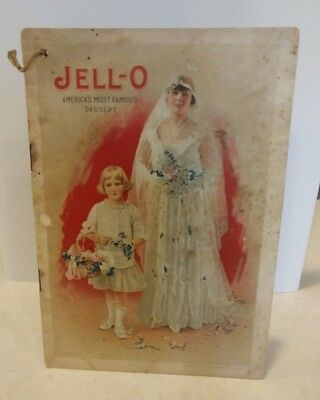 Rare Antique 1916 Jello Jell-o Cookbook Bride Bridal Edition America's Dessert