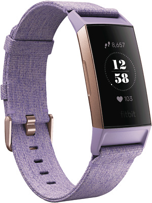 NEW Fitbit 4288358 Charge 3 Special Ed.- Lavender Woven/Rose Gold Aluminium