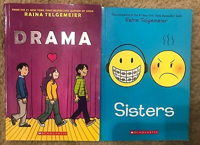 Drama & Sisters By Raina Telgemeier ~ Graphic Novel ~ Free Ship
