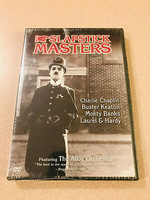Slapstick Masters 4 Comedy DVD Chaplin Keaton Banks Laurel Hardy Sealed New Rare