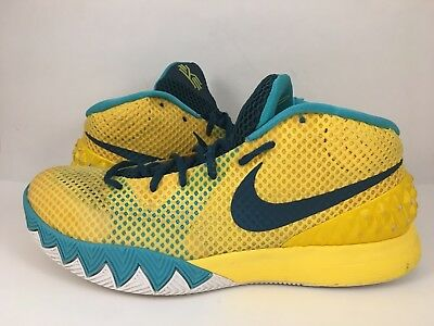 check out 948c4 d7a0b NIKE Kyrie 1 Letterman 705277-737 Yellow Teal Green Mens 9.5 Shoes