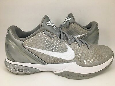 more photos ca2a7 33900 Nike Zoom Kobe Vi 6 Wolf Grey Metallic Silver 429659-012 Us Sz 8