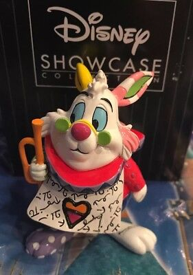 Disney Romero Britto Alice in Wonderland White Rabbit Mini Figurine 6001310 New