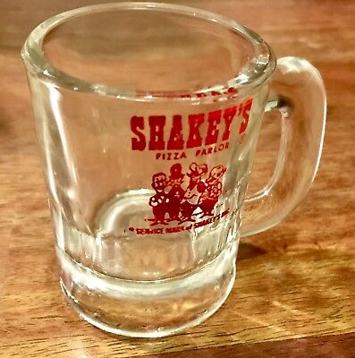 Vintage SHAKEY'S PIZZA PARLOR Heavy Glass Beer Mug 3""