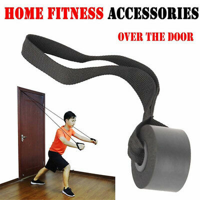 Resistance Exercise Heavy Duty Bands Home Gym Fitness Advanced Door Anchor Black