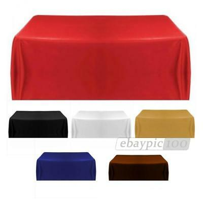 Wedding Party Tablecover Table Cover Cloth Satin Tablecloth 6 Color 145x145cm