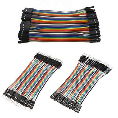 40 Pcs Jumper Wire M-M / M-F / F-F Cable Pi Pic Breadboard For Arduin GFUK