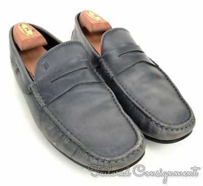 70583ae49b6 TODS Blue Leather Mens Casual Driving Moccasin Loafer Shoes - UK 9   US 10
