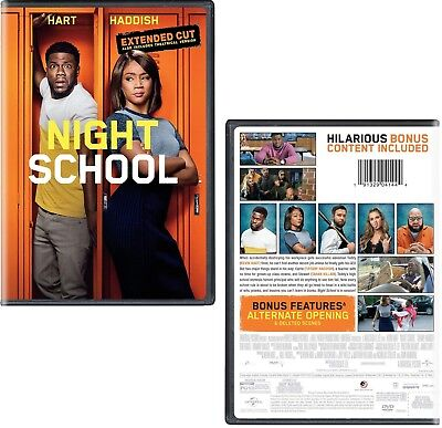 NIGHT SCHOOL (2018): Extended Cut, Kevin Hart, Comedy - NEW US Rg1 DVD