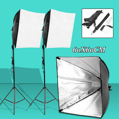 Photo Studio Video Photography Continuous Lighting Kit Softbox +Light  new