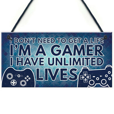 Gamer I'M A GAMER Best Friend Gift Novelty Birthday Hanging Plaque ForParty Home