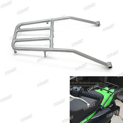 Rear Luggage Rack Back Cargo Shield Silver For KAWASAKI KLX250 08 09 10 11 12 13