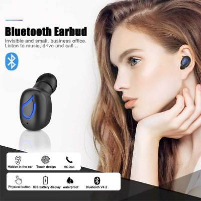 Mini Bluetooth 4.2 Earbuds Best Noise Cancelling Wireless Headphones Sports Gym
