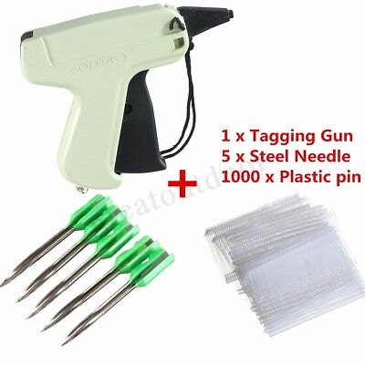 Clothes Garment Price Label Tagging Gun Tag Machine +1000 Tag Barbs+5 Needles