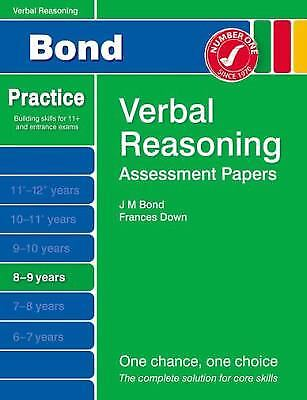 Bond Assessment Papers Verbal Reasoning 8-9 yrs by Down, Frances