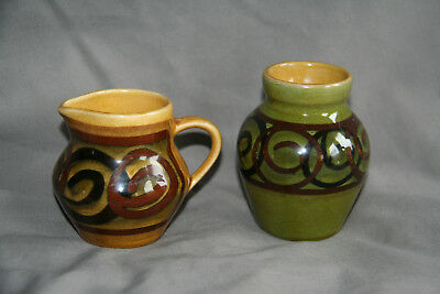Brixham Pottery Creamer and Vase