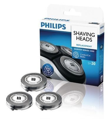 3x Genuine Philips SH30 Shaver CLOSE CUT  1000 - 3000 Shaving Blades Foils SH30