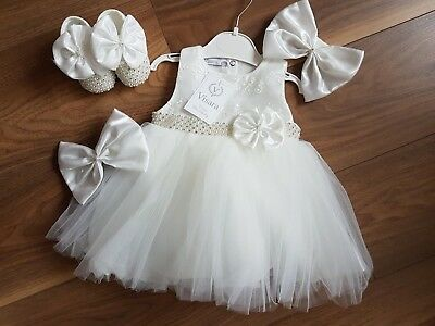 Baby Girl Absolutely Stunning VISARA  Diamante Dress & Shoes Outfit £24.99