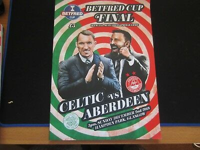 2018 SCOTTISH  BETFRED CUP FINAL CELTIC v ABERDEEN  ( SELL-OUT )