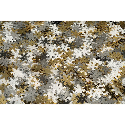 RVFM White, Gold and Silver Snowflake Sequins 70g Tub