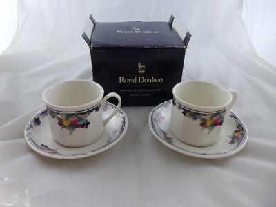 Royal Doulton 'Autumn's Glory' 2 x Cups and Saucers, boxed.